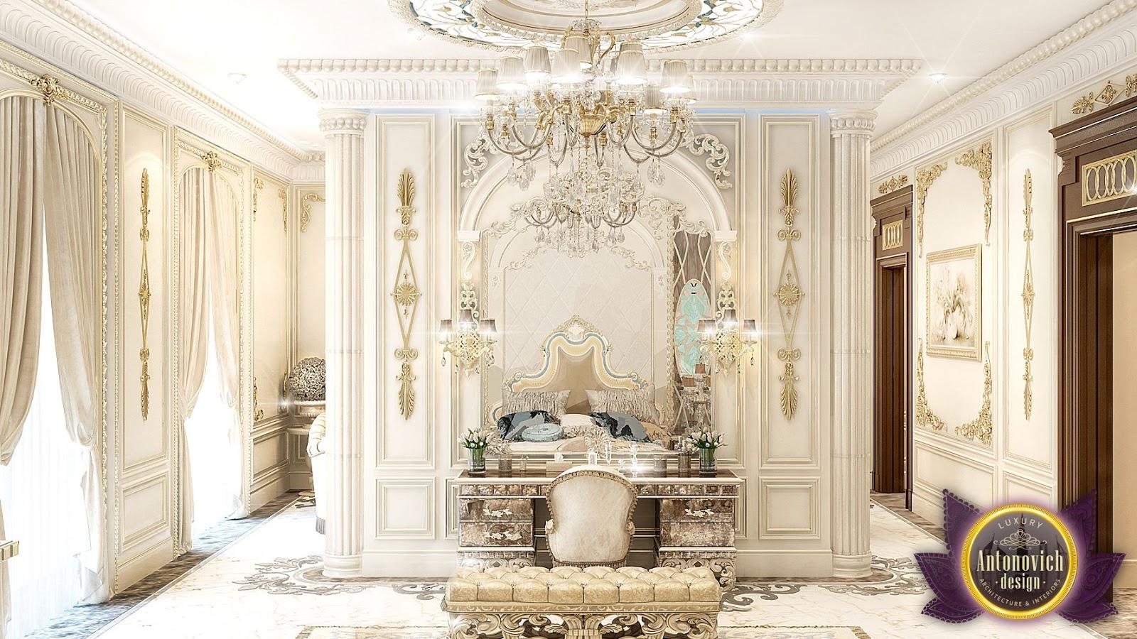 luxurious arabic style bedroom LUXURY ANTONOVICH DESIGN UAE: Luxury Royal Arabic Master Bedroom of Luxury Antonovich Design