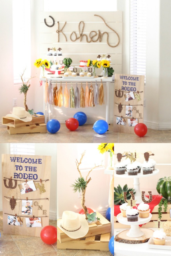 Rodeo first birthday decorations.