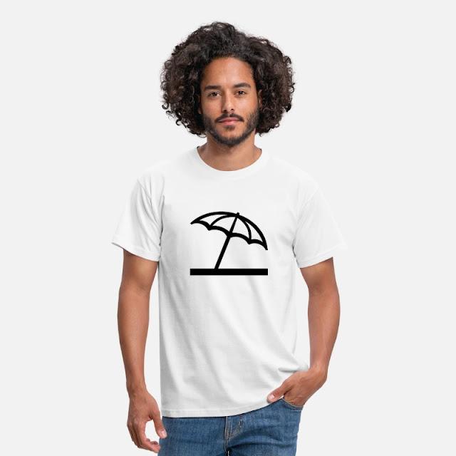 Männer T-Shirt Strand Symbol Zeichen Form