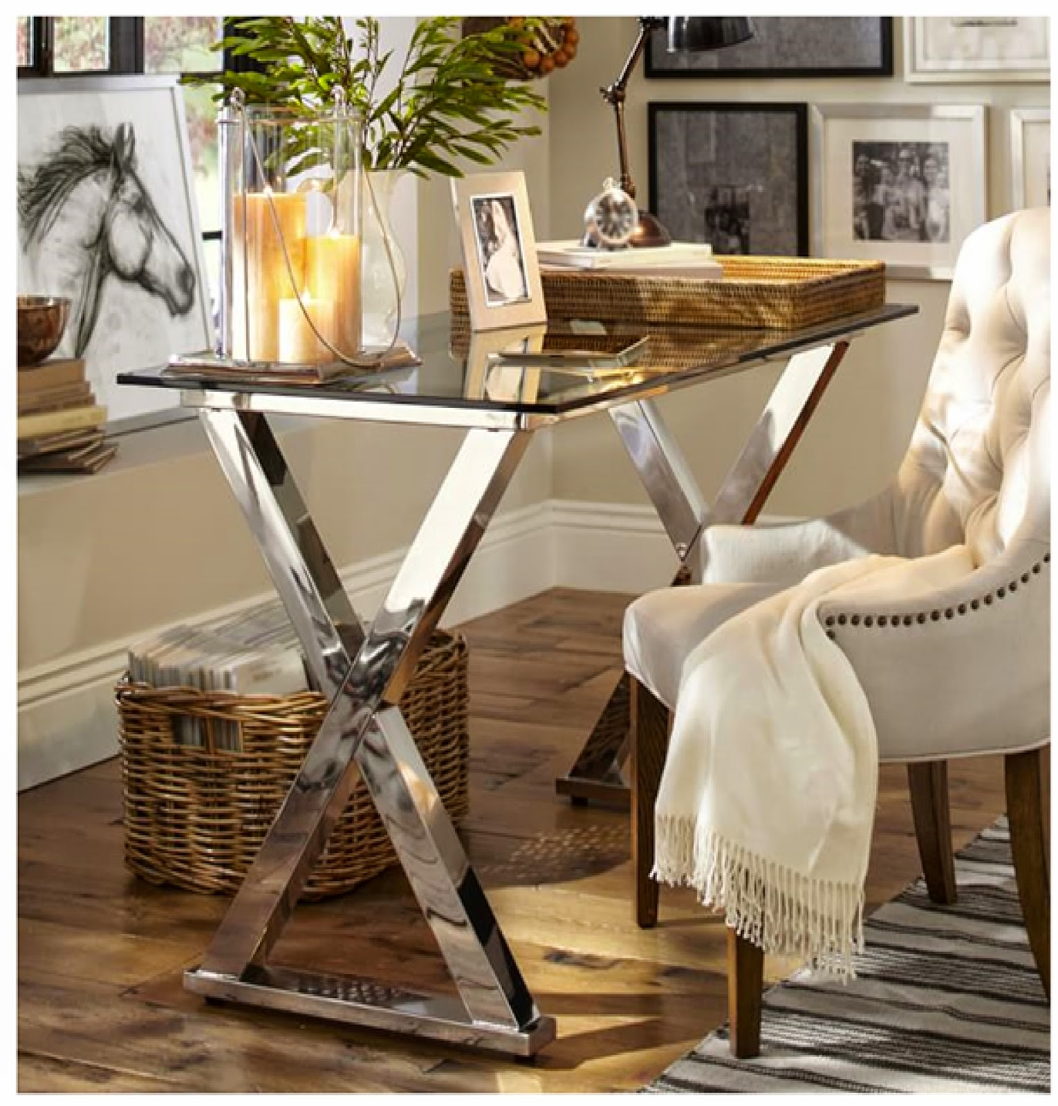 This Is The Ava Metal Desk And Can Also Be Found At Pottery Barn Only Real Difference In Portion As Legs