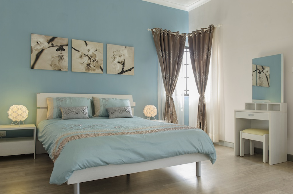 chambre bleu gris et beige avec des id es. Black Bedroom Furniture Sets. Home Design Ideas