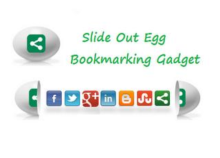 Slide Open Egg Bookmarking Gadget untuk Blogger