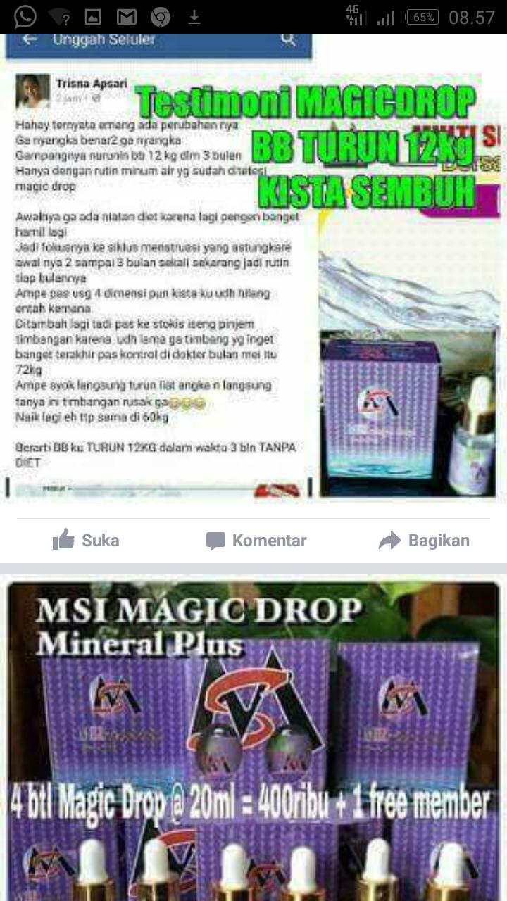 Multy Manfaat Produk Msi Februari 2017 Silver Ion Spray Perak Original Member Collagen Soap Serum Fruit Detox Slim Miracle Blue Magig Drop