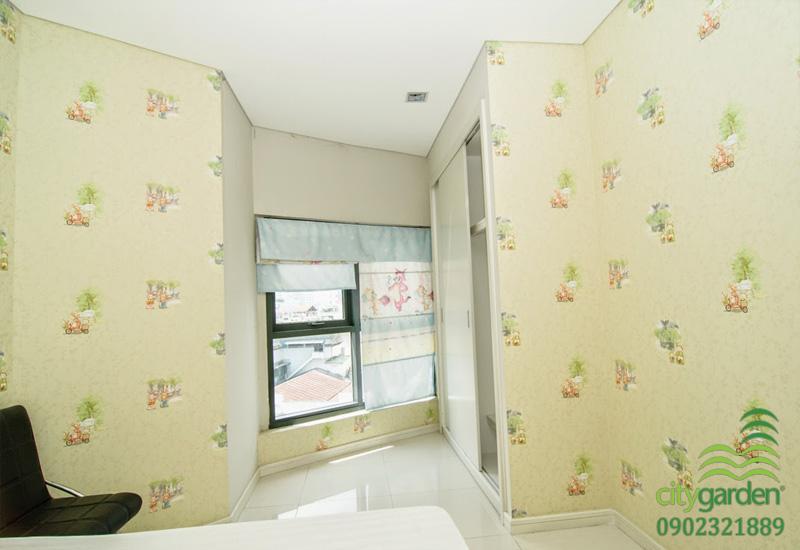 cửa sổ tại phòng ngủ 2 căn hộ 104m2 city garden cho thuê