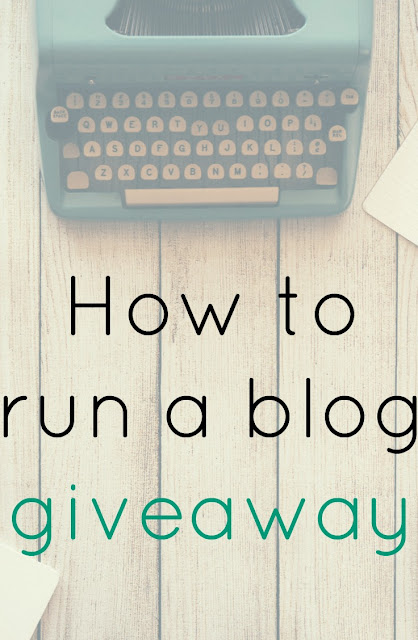 How to run a blog giveaway