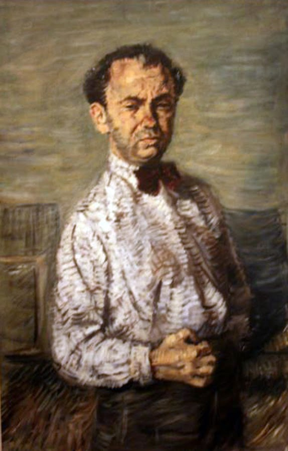 Miron Sima, Self Portrait, Portraits of Painters, Fine arts, Portraits of painters blog, Paintings of Miron Sima, Painter Miron Sima