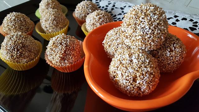 Тиквени поп кейкчета с карамел и пуканки от амарант