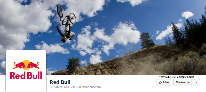 Facebook page of Red Bull