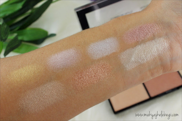 NYX Stobe of Genius Illuminating Palet Swatch