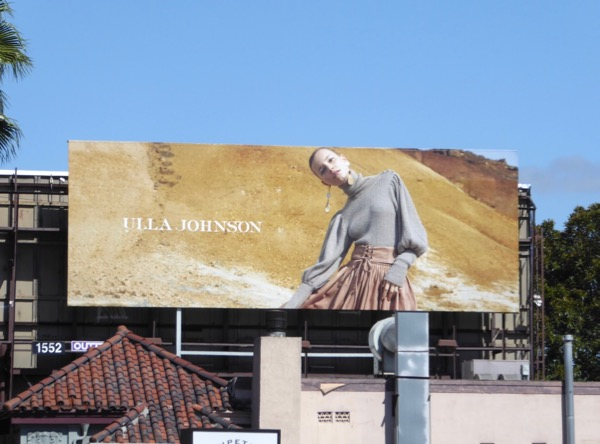 Ulla Johnson FW17 fashion billboard