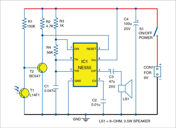 Light-sensitive fire alarm - Electronic and others...