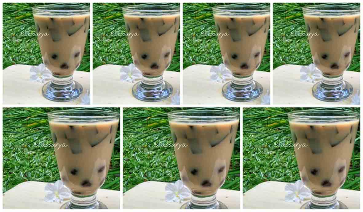 Resep Minuman Segar Praktis Bubble Cokelat. Cukup 2 Bahan Saja.