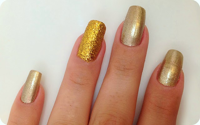 Unha Filha Única com Glitter - Tutorial Unhas com Glitter