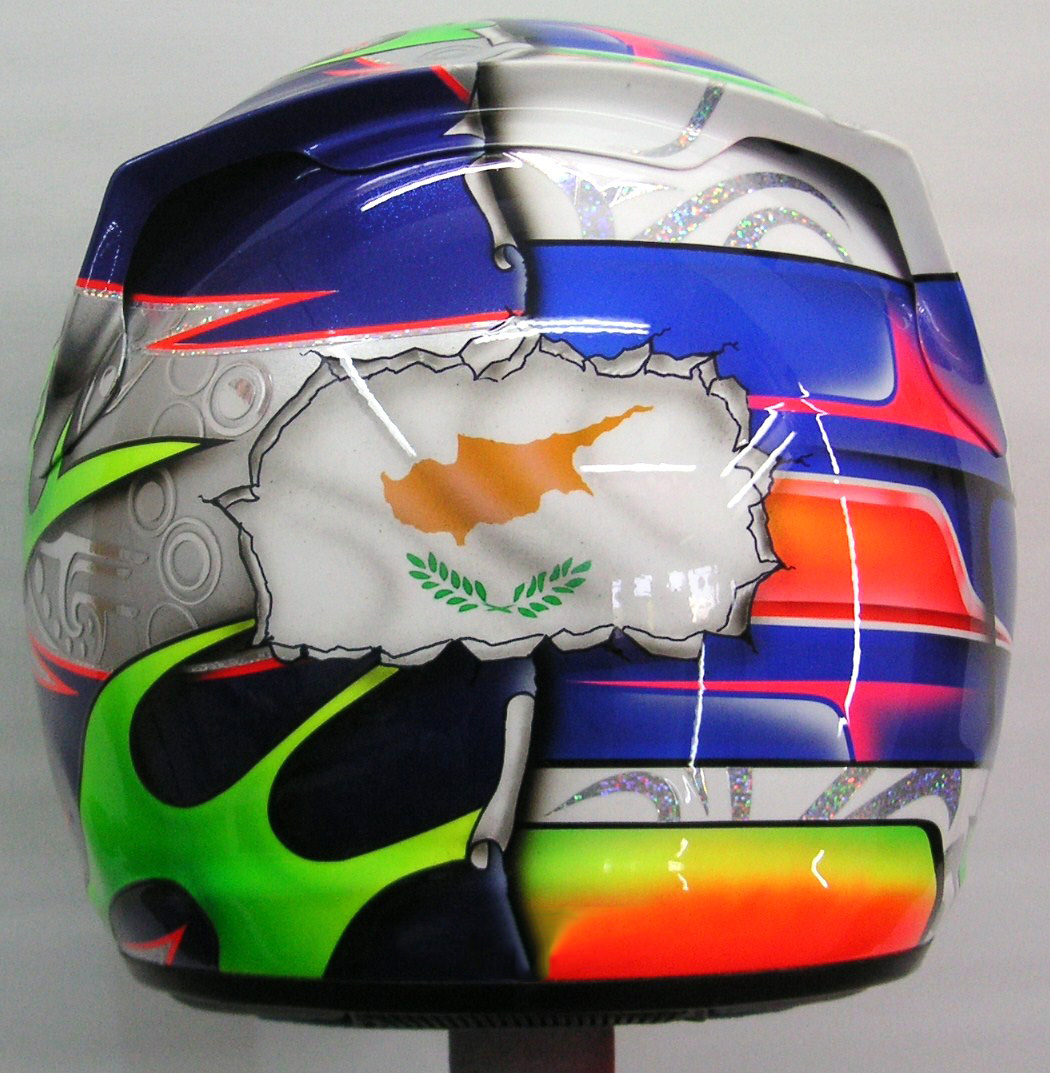 Arai Custom Painted Design for Kart #183 ~ Hand Painted ...
