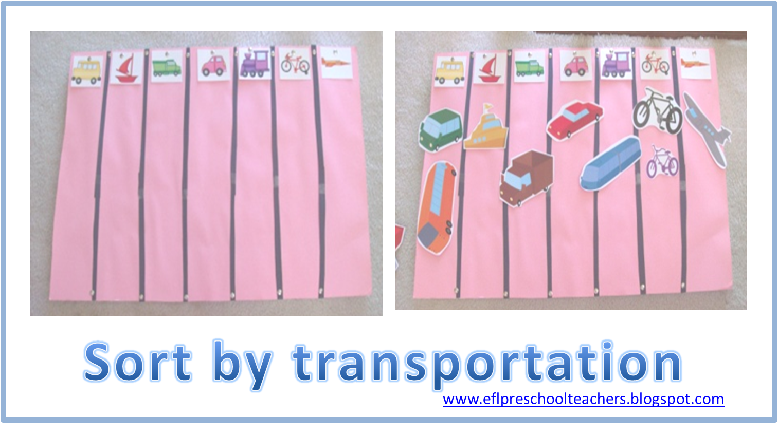 Esl Efl Preschool Teachers Transportation Theme