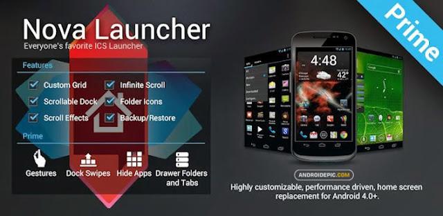 Memakai aplikasi nova launcher di hp android dapat merubah tampilan homescreen android menjadi lebih keren.