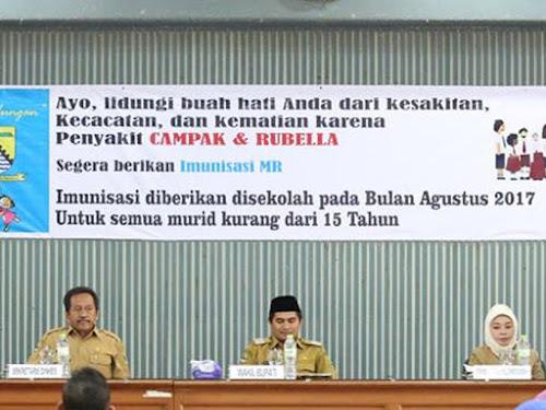 Kampanye Imunisasi MR Dilaksanakan Agustus dan September 2017