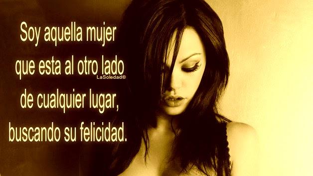 Felicidad, Mujer, Mi manera de ser, Ausencia, Comenzar de nuevo, Error, Pensamientos de soledad, Depresión, Estrés postraumático,