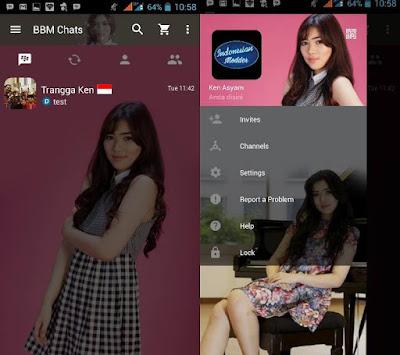 Download BBM MOD Edisi Artis/ Selebriti V2.12.11 Terbaru 2016