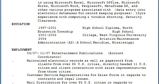 account coordinator resume samples in word format free
