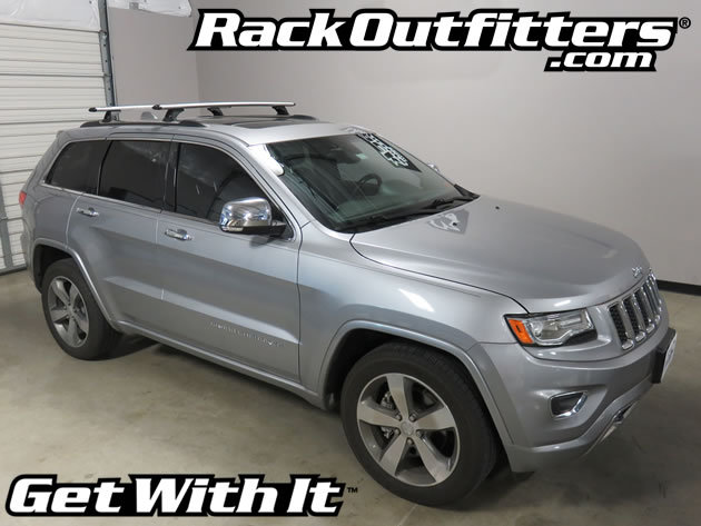 jeep grand cherokee rhino rack rlcp27 vortex silver base roof rack 39 11 39 16 rack outfitters. Black Bedroom Furniture Sets. Home Design Ideas