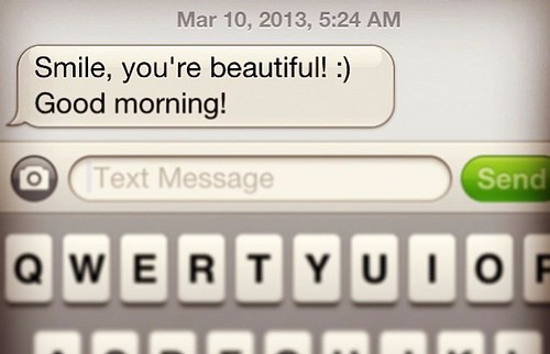 Good Morning Text - You're Beautiful
