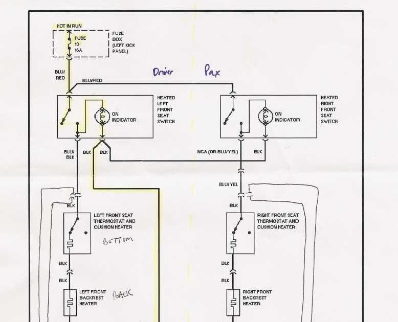 heated car seat wiring diagram
