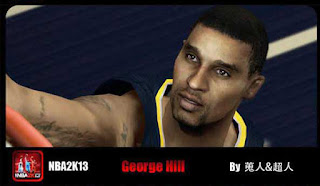 NBA 2K13 George Hill Cyber Face Mod