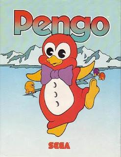 Imagen con el diseño del pingüino de SEGA : Pengo, máquina arcade de 1982