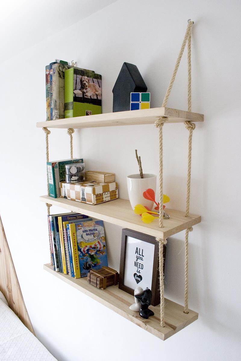 Decorar en familia_Diy baldas de cuerda y madera11
