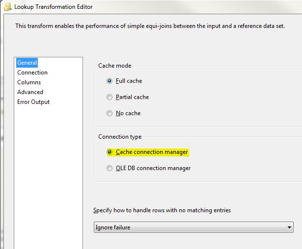 SQL Server SELECT: SSIS Lookup Transformation Using