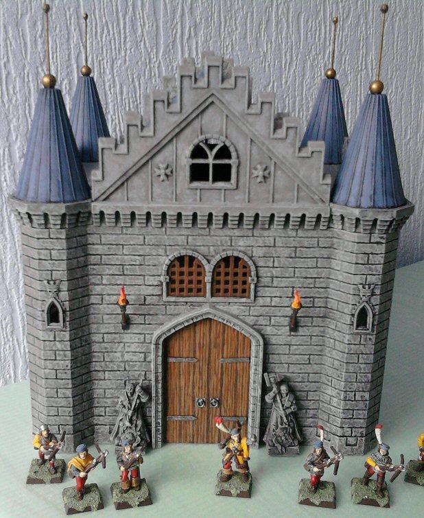 Wk S Miniature Imperium Revamping A Cheap Castle Kit Part 1