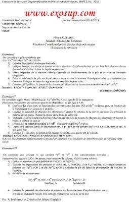 Oxydo-réduction et Piles électrochimiques