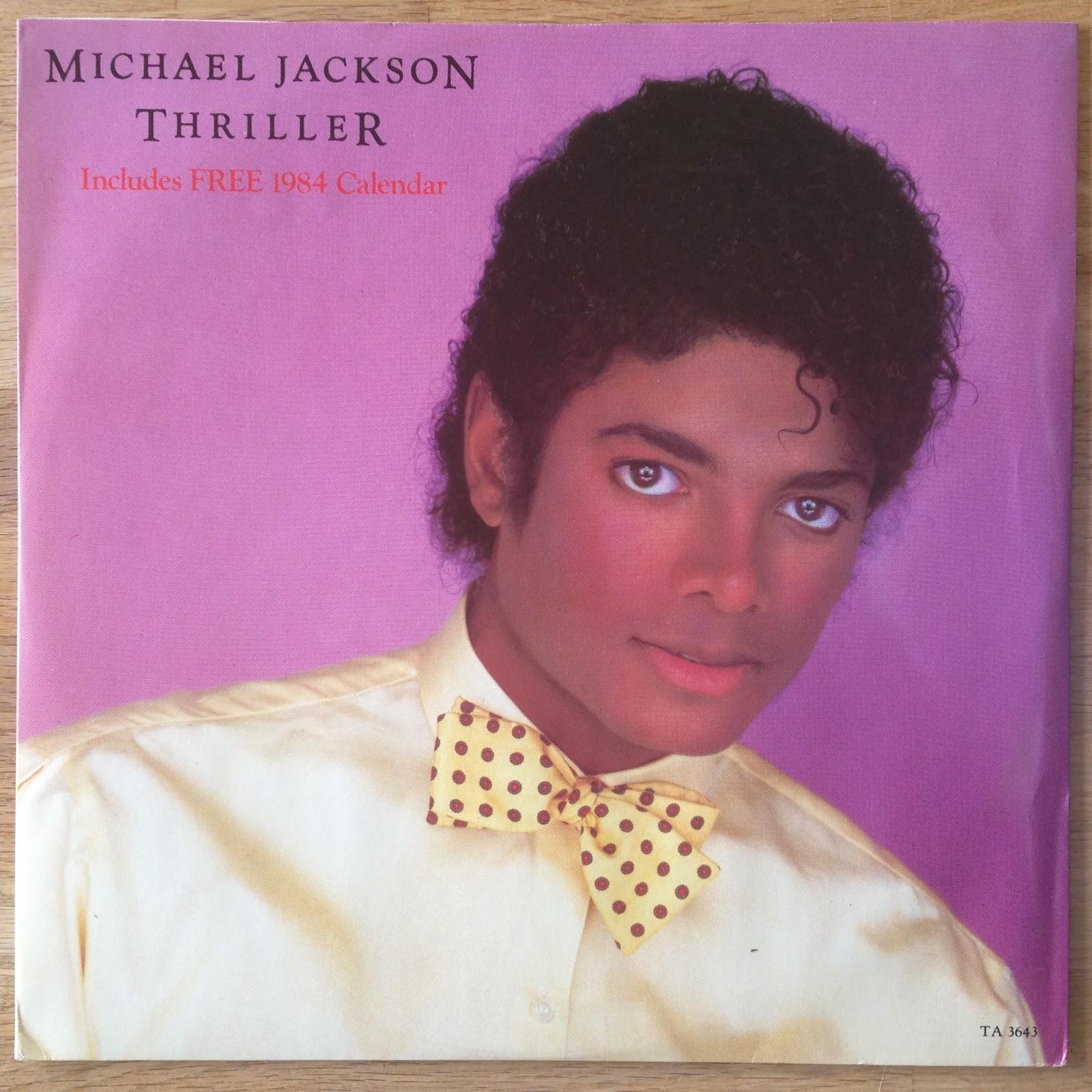 Thriller Uk Epic Ta 3643 Calendar Michael Jackson Vinyl Treasures