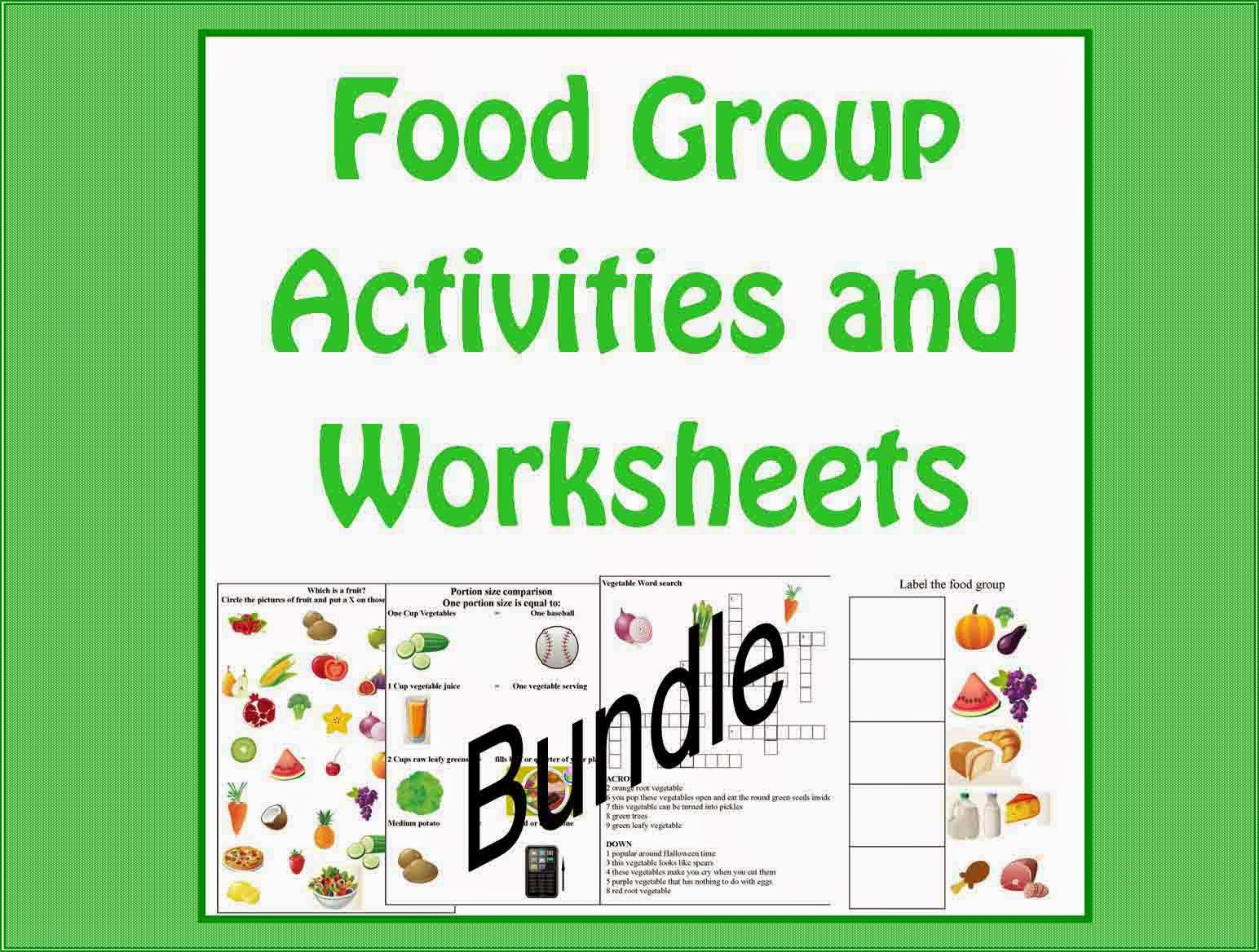 Kids Cooking Activities Food Group Activities And Worksheets