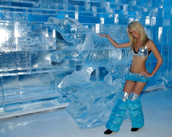 Localização e permanência no Ice Bar Orlando