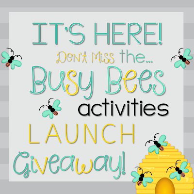 Busy Bees Activities LAUNCH Giveaway!
