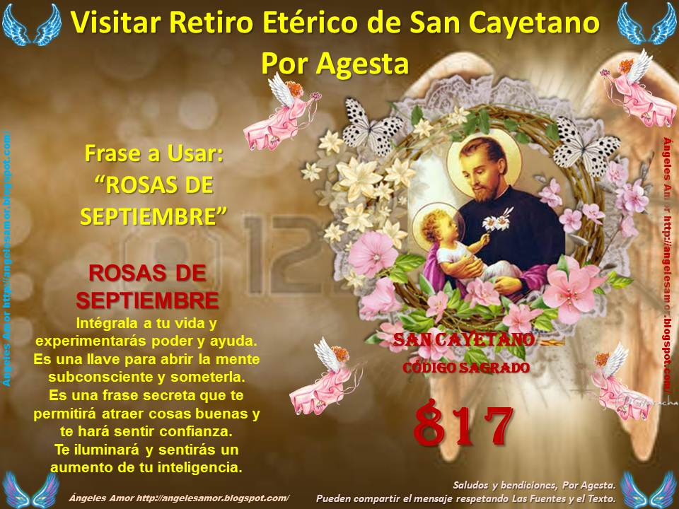 ángeles Amor Visitar Retiro Etérico De San Cayetano Por Agesta
