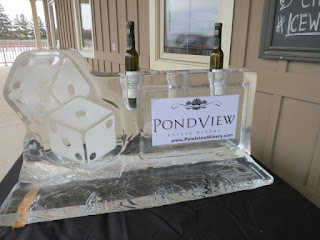 Ice Sculpture at PondView Estate Winery