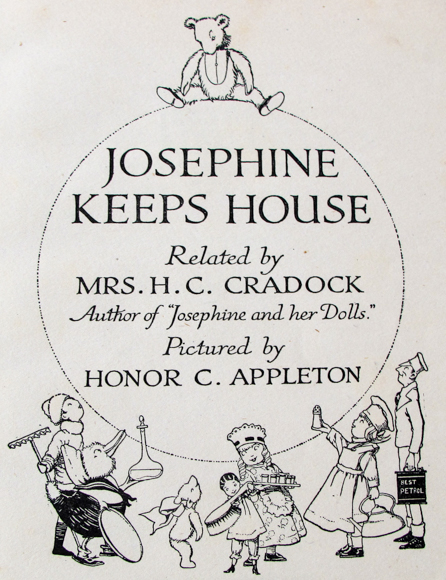 Josephine Keeps House by Mrs H. C. Cradock. title page