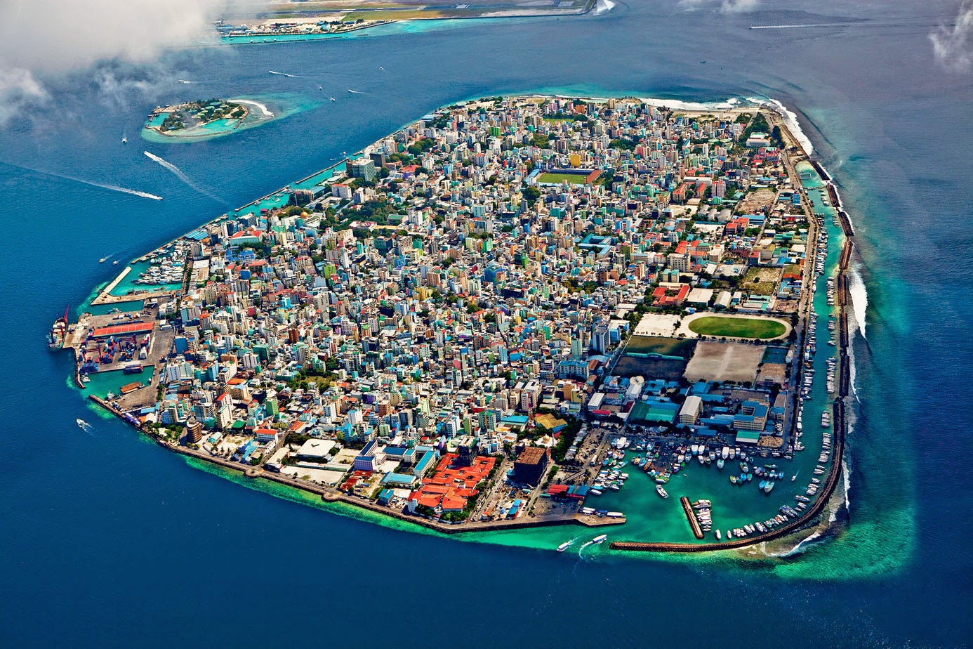 Maldives top view
