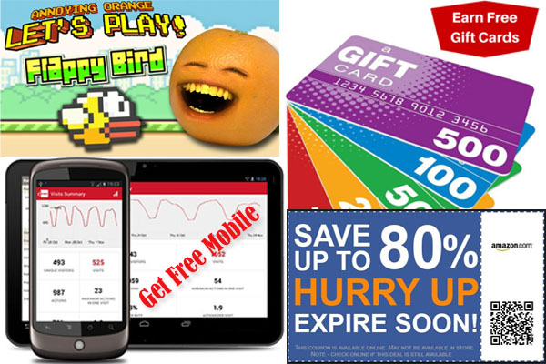 Free Online Games, Free Gift Cards, Coupon Code, Free Mobile