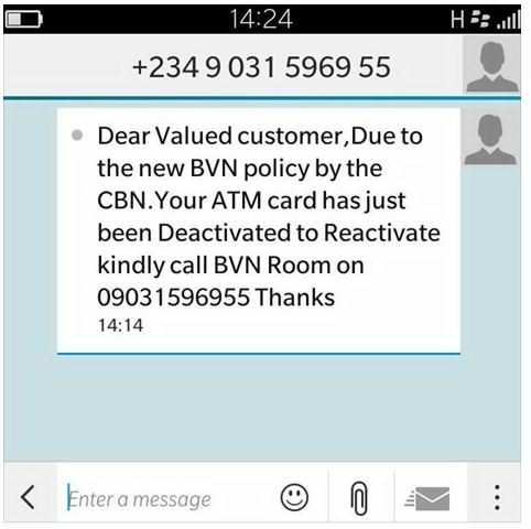 BVN number scammers