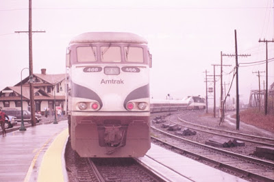 Amtrak Cascades F59PHI #466 in Vancouver, Washington, in Early 1999