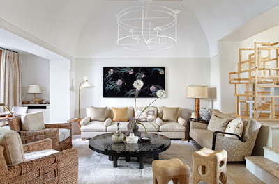 Jean Louis Deniot Design living room in Capri via belle vivir blog