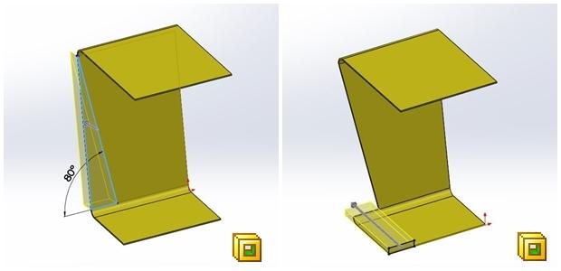 Eliminación de material de una chapa metálica con Extrusión-corte