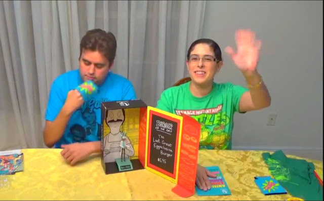A screen cap from my Loot Crate Unboxing/Review video. I'm waving bye.