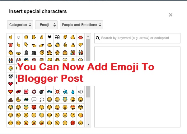 Add Emoticon, Special Icons To Blogger Post