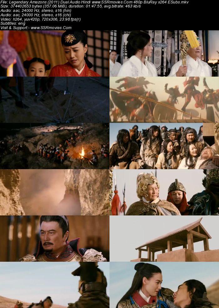 Legendary Amazons (2011) Dual Audio Hindi 480p BluRay 350MB