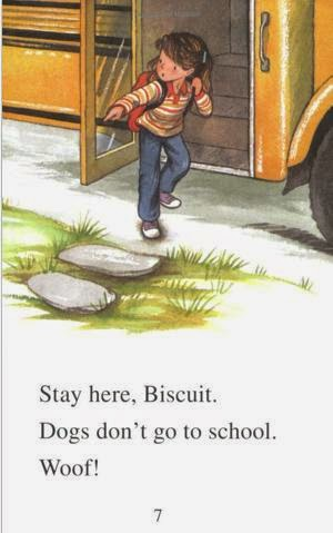 sample page #1 from BISCUIT GOES TO SCHOOL  (My First I Can Read)  by Alyssa Satin Capucilli
